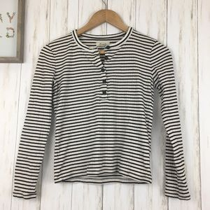 Madewell black and white striped shirt Sz S